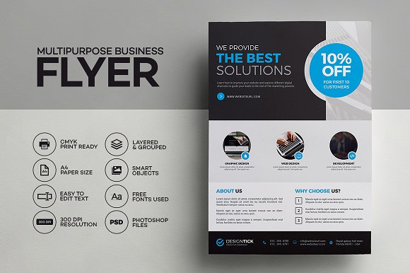 corporate flyer 03 flyer templates creative market