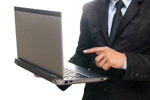 Businessman using the laptop