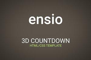 Ensio – 3D Countdown HTML Template