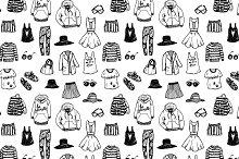Fashion sketch set + pattern