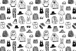 Fashion sketch set + pattern