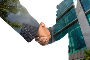 Double exposure handshake