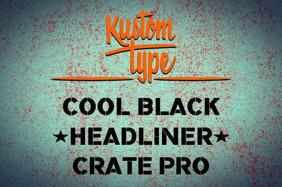 Crate Pro Rounded Stencil in Blackletter Fonts - product preview 2