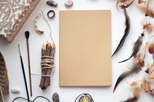Empty notebook mock up