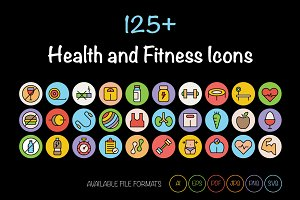 125+ Health and Fitness Icons