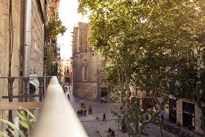 Architecture in Barcelona,Spain