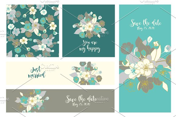 Wedding invitation. Seamless pattern - Invitations
