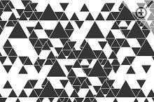 Triangular seamless vector patterns