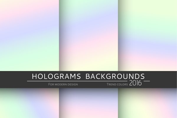 Set 6 holographic backgrounds