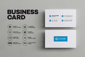 Simple Clean Business Card Templates Creative Market