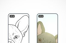 Set of 2 covers for phone