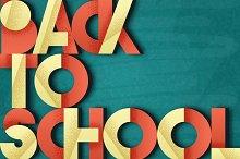 Back to school. Retro poster.