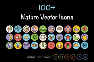 100+ Nature Vector Icons
