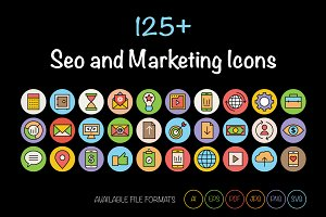 125+ SEO and Marketing Icons