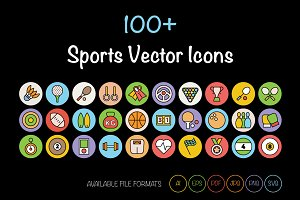 100+ Sports Vector Icons