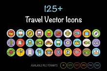 125+ Travel Vector Icons