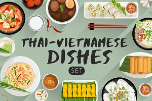 Big Set of Thai&Vietnamese Cuisine