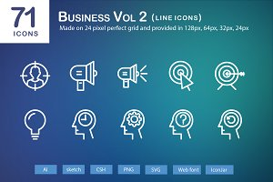 71 Business Vol 2 Line Icons
