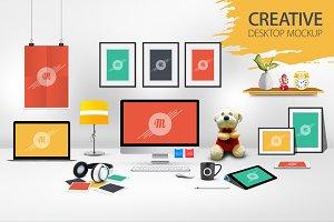 Creative Desktop Mockup