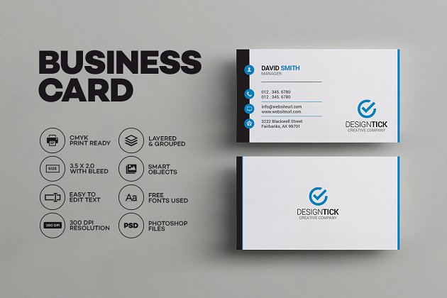 Modern business card template business card templates creative simple clean business card reheart Image collections