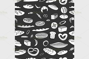 Bakery background illustration