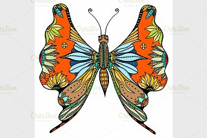 ornate Vector butterfly