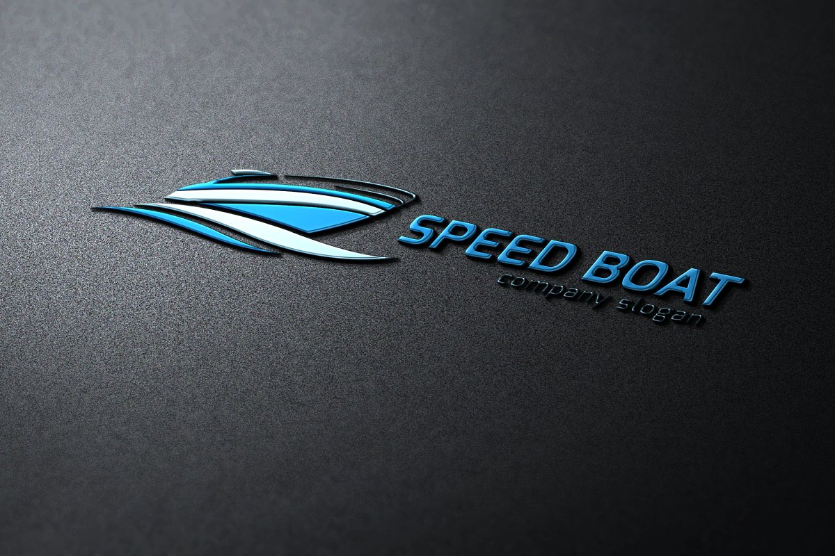 Speed Boat in Logo Templates - product preview 8
