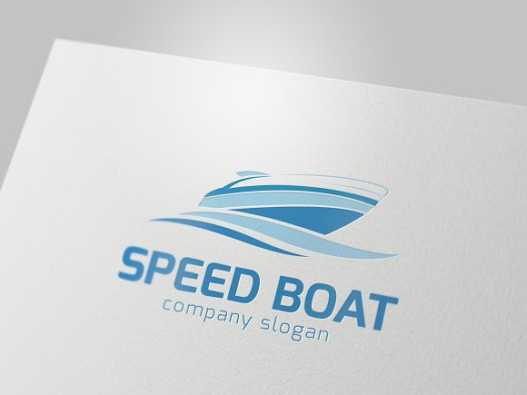 Speed Boat in Logo Templates - product preview 2