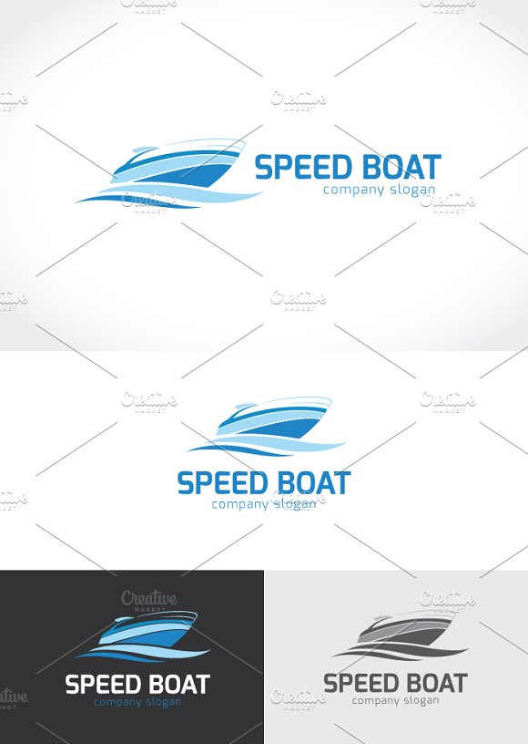 Speed Boat in Logo Templates - product preview 3