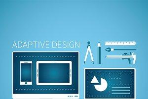 Adaptive design flat style