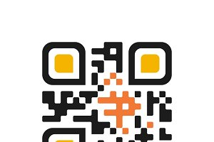 Qr code isolated design sample