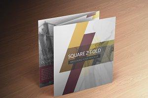 Square Z-Fold Brochure Mockup
