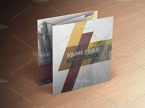 z fold brochure template word - square z fold brochure mockup product mockups creative