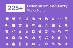 225+ Celebration and Party Icons