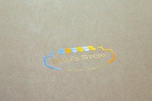 Sam's Store Logo Template