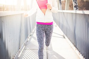 Young Fit Woman is on Morning Run