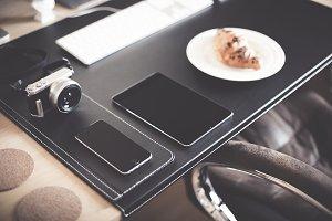 Morning Breakfast Workspace Setup