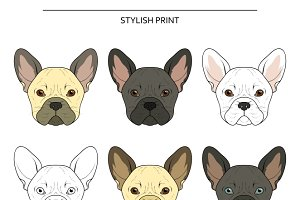 Set goals sketch french bulldog
