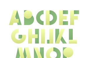 Retro font in green