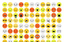 Great set 99 color emotion isolated