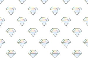 Hipster seamless pattern diamonds