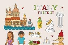 Italy travel symbols