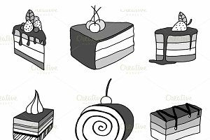 sketch cake element.