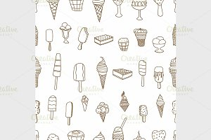ice creams seamless pattern