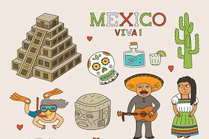Mexico travel symbols