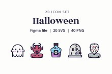 Halloween Icon Design Set by  in Graphics