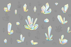 Set 18 isolated fashion diamonds