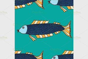 Seamless pattern Fish