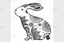 doodle rabbit illustration