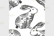 background with rabbits.